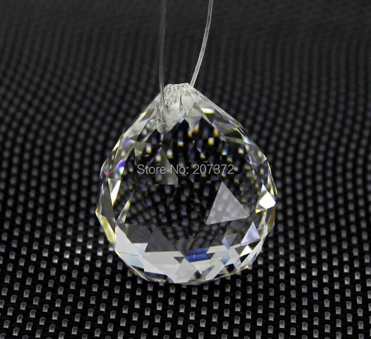 50mm Clear Crystal Chandelier Ball Window Suncatchers Hanging Christmas Ornament Faceted Free Shipping In Figurines Miniatures From Home