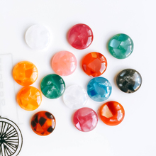 Round Resin Cameo Cabochons Mixed Color Flat Back Cabochon Setting Supplies for Jewelry Finding
