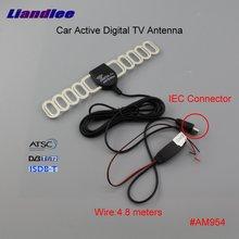 Liandlee Car Digital TV Antenna Amplifier Automobile Active Aerial IEC Connector Male Plug Booster DVB-T ISDB-T ATSC ANT #AM954 dvb tw35b colosseum pattern dvb t 35db iec digital tv antenna black