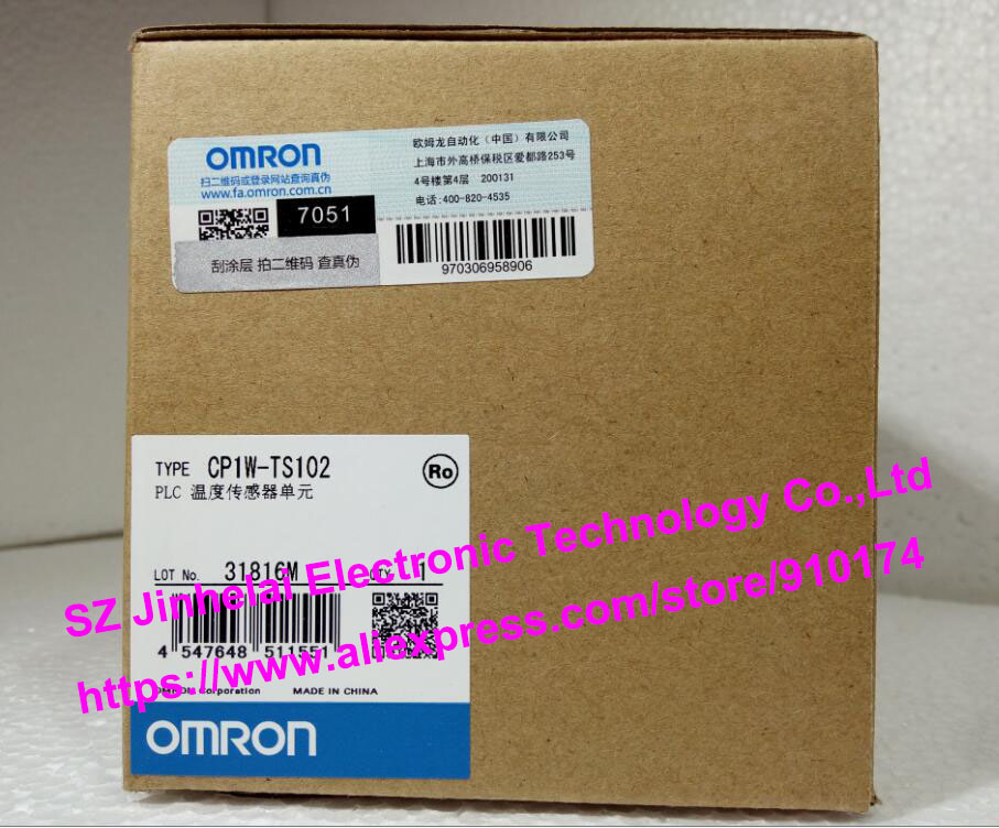 New and original CP1W-TS102  OMRON PLC Temperature sensor unit new and original e3x da11 s omron optical fiber amplifier photoelectric switch 12 24vdc