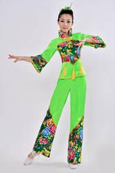 Китайский народный танец костюм танцевальный костюм Yangko Для женщин барабан с поясным ремнем танец Костюмы квадратный танца Костюмы