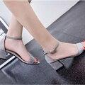 Mulheres Sandálias Flip Flops Verão das Mulheres Do Dedo Do Pé Aberto Sandálias de Salto Grosso Mulheres Sapatos Coreano Sapatos Estilo Gladiador Sapatos Plataforma Cunha sapato