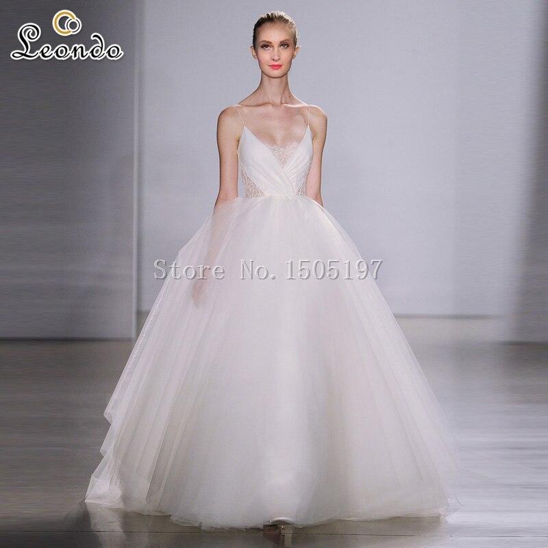 Vestido De Casamento Curto Spaghetti Strap Ball Gown Wedding Simple Bridal Tulle Cheap Dresses Made In China From