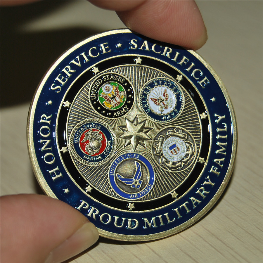 50pcs lot DHL free shipping PROUD MILITARY FAMILY LUCKY COMMEMORATIVE 2 CHALLENGE COIN USCG US COAST
