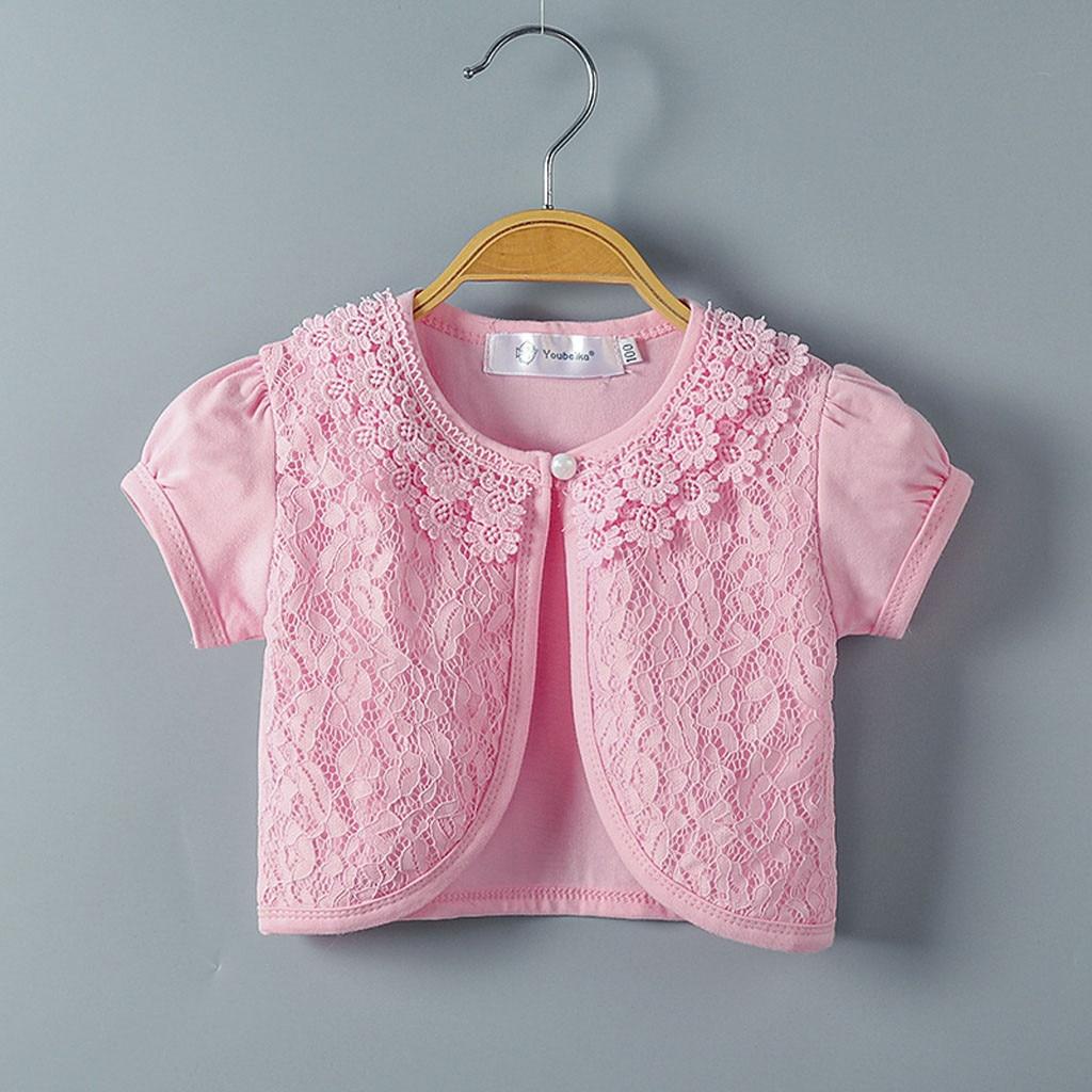 Shrug Tops Clothes Little Girls Lace Princess Bolero Cardigan MM520