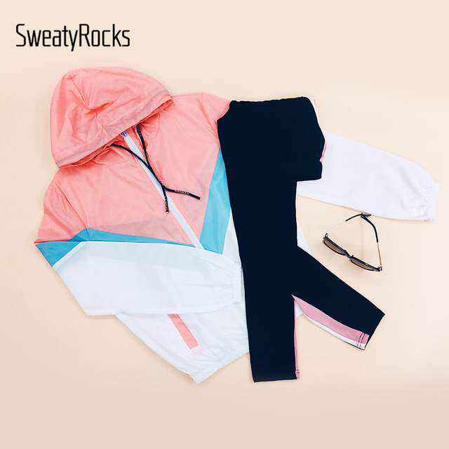 SweatyRocks Leggings Women Pants Stripe Side Workout Leggings 2018 Autumn Fitness Legging Womens Clothing Sporting Trousers
