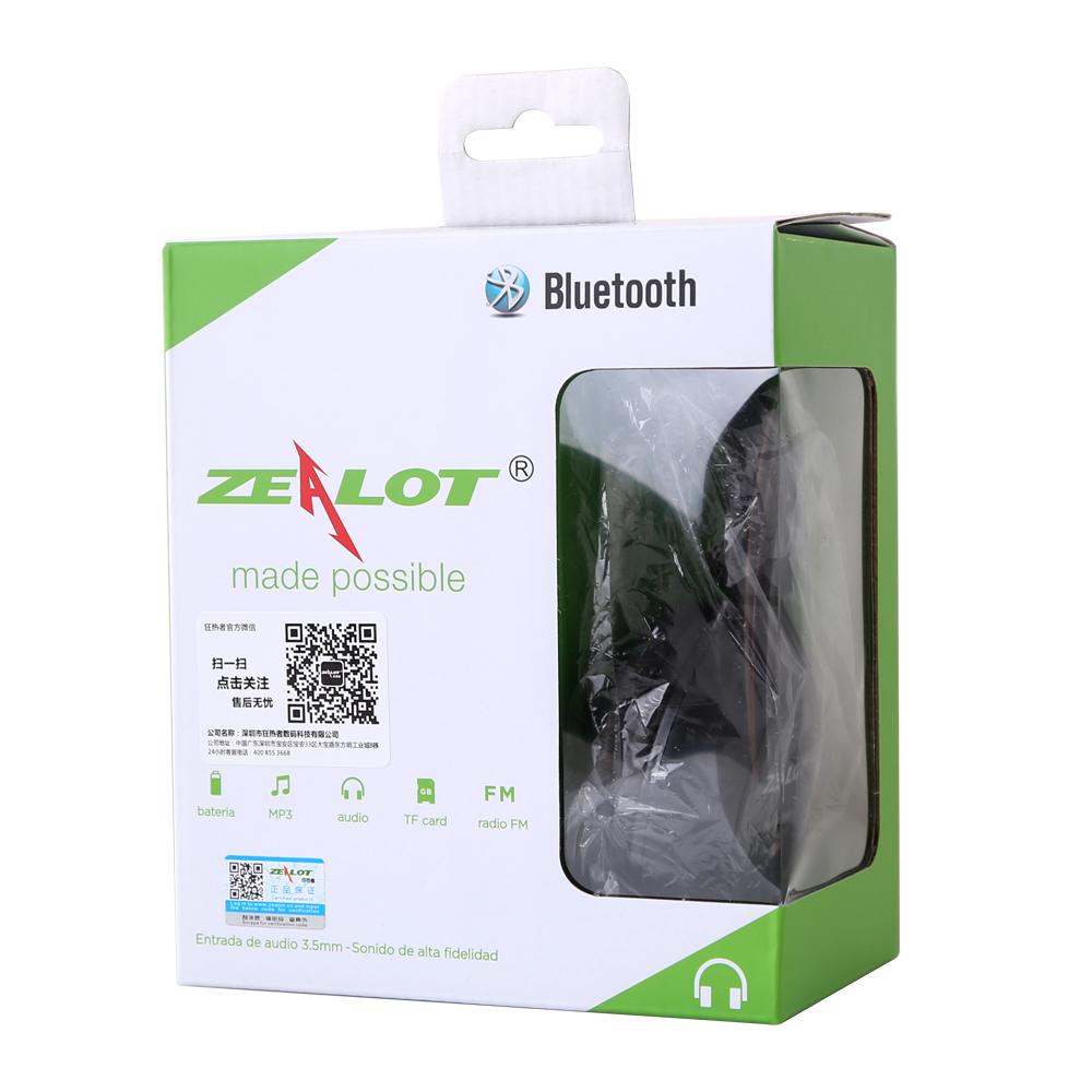 Zealot B570 Earphone Headphone with LCD Screen Bluetooth Headphone Foldable Hifi Stereo Wireless Headset FM Radio TF SD Slot 26