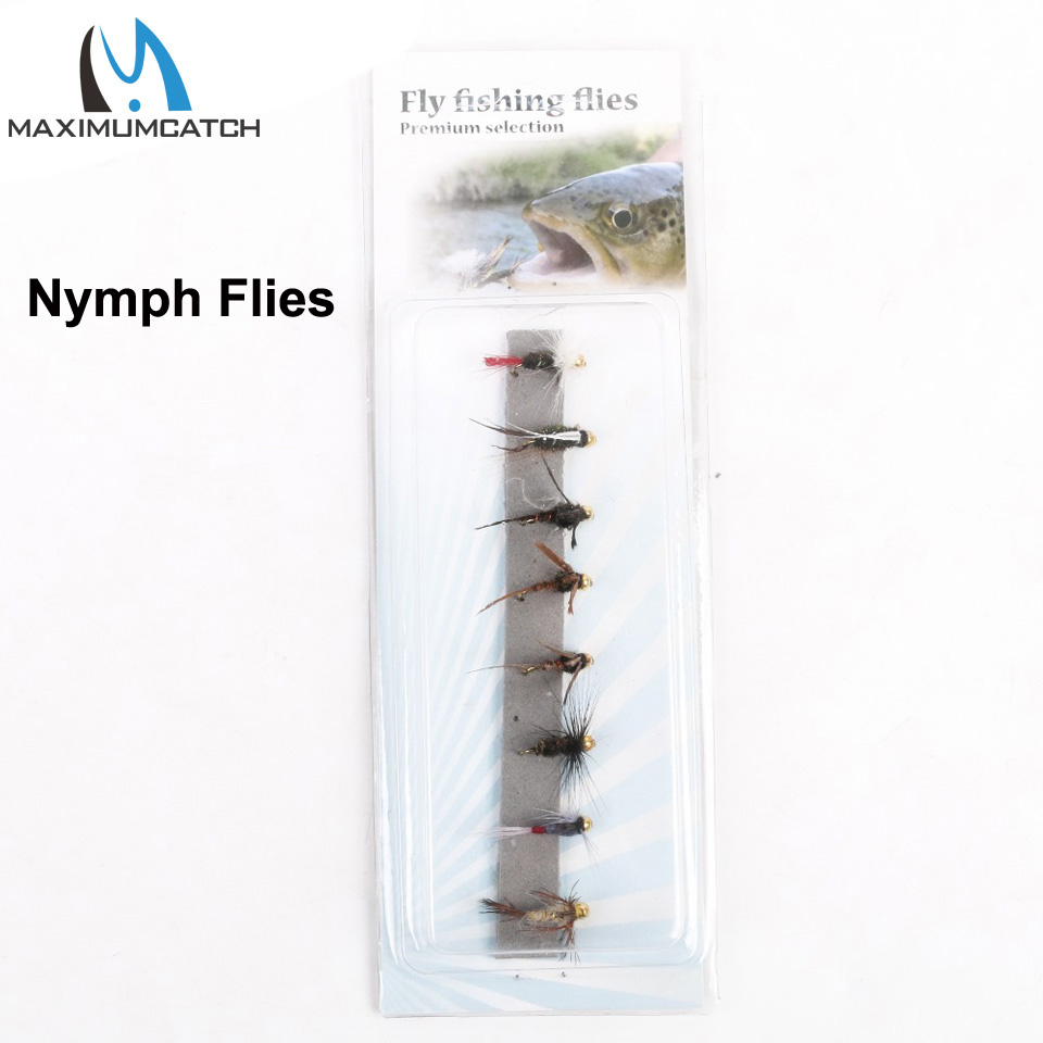 где купить Gold Head Nymph Flies 10# Assortment 8 patterns Panfish High Carbon Steel Hook по лучшей цене