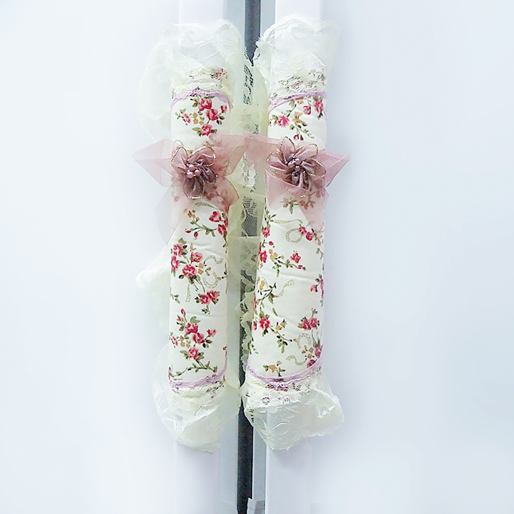 1Pair Decorative Pastoral Style Lace Fridge Door Stand