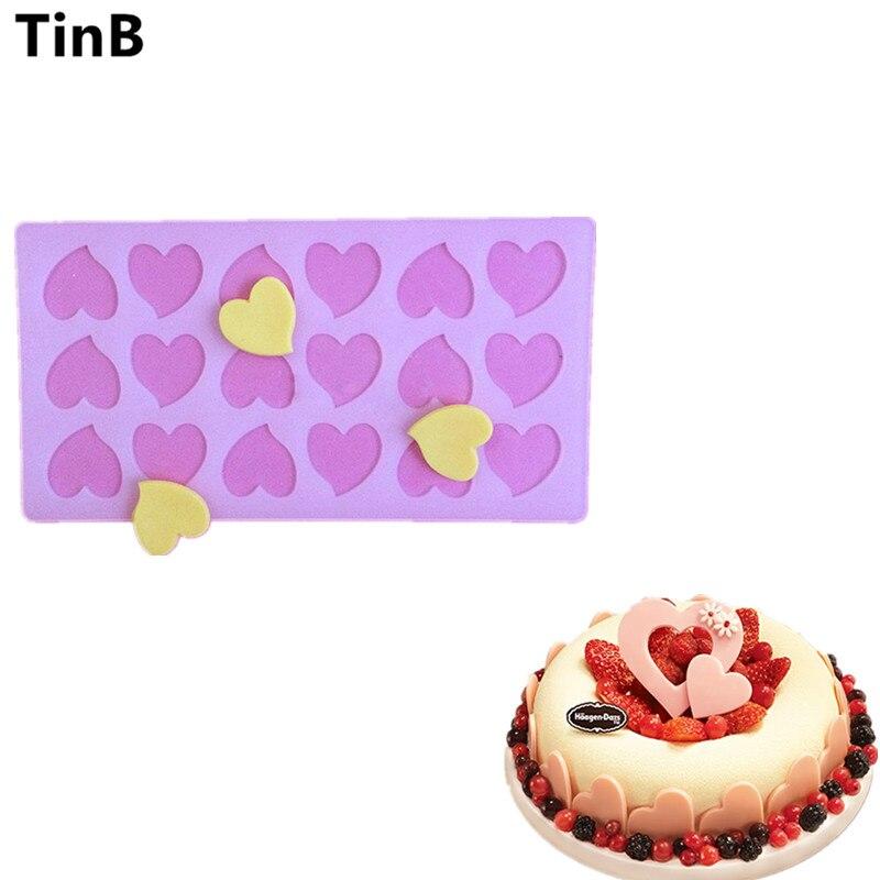 ტორტის ინსტრუმენტი საყვარელი გულის ფორმის საცხობი ჩამოსხმა შოკოლადის სილიკონის ამშვენებს Die Sugar Arts Cake Decorating Tools Chocolate Mould Stencil