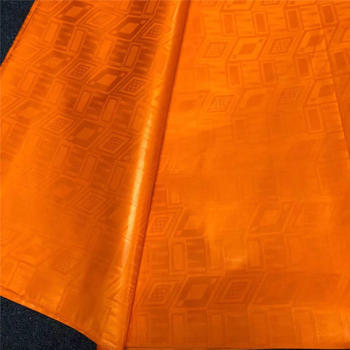 Orange guinea brocade fabric tissu bazin riche getzner dubai fabric african prints fabric high quality 10yard/lot flavored style