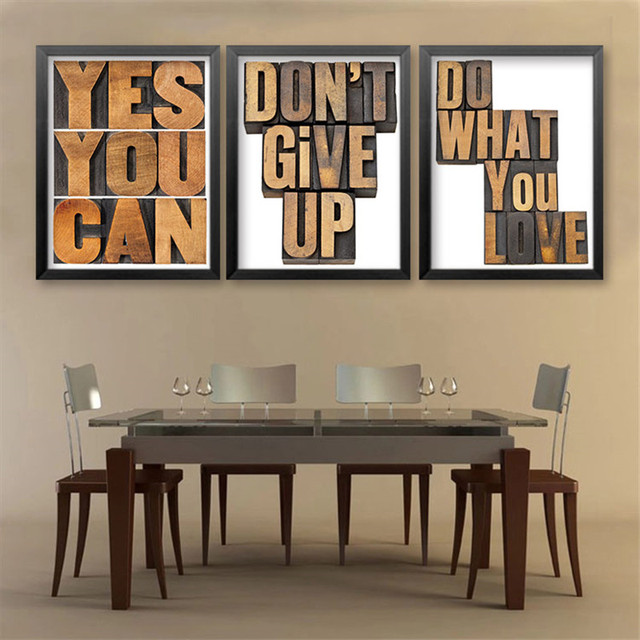 Modern Simple Yes You Can Quote English Letters Classroom Office Art Wall  Canvas Painting Modern Prints