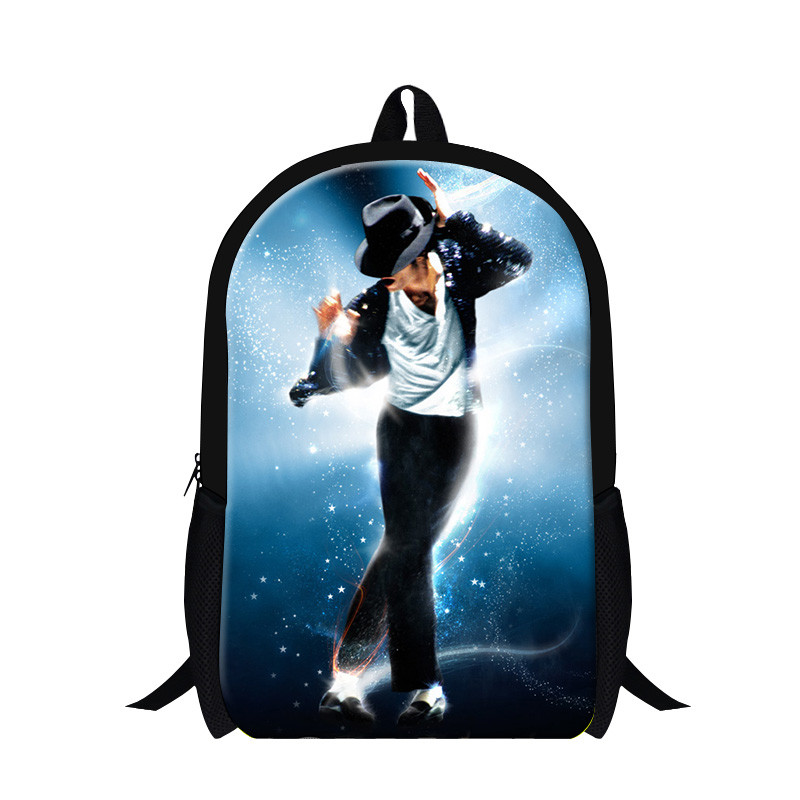 Star style Michael Jackson backpack school bag Casual Fashion backpack sports bag