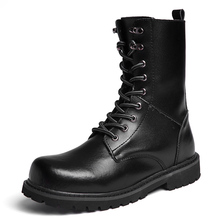 цена New High Quality Genuine Leather Male Shoes Non-slip Warm Men Boots Martin Motorcycle Autumn Winter Lover Snow Low-heeled Boots онлайн в 2017 году