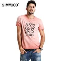 SIMWOOD 2017 New T Shits Men Shorts Sleeve Spring Summer 100 Pure Cotton O Neck Slim