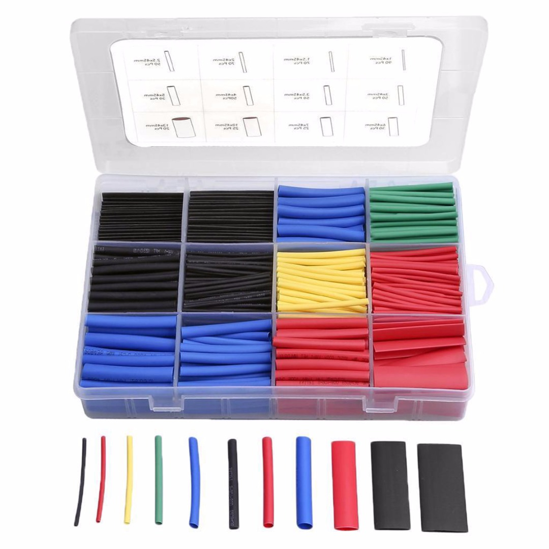 560pcs Polyolefin 2:1 Heat Shrink Tubing Insulation Shrinkable Tube Crimp Wrap Wire Cable Sleeve Assorted Kit560pcs Polyolefin 2:1 Heat Shrink Tubing Insulation Shrinkable Tube Crimp Wrap Wire Cable Sleeve Assorted Kit