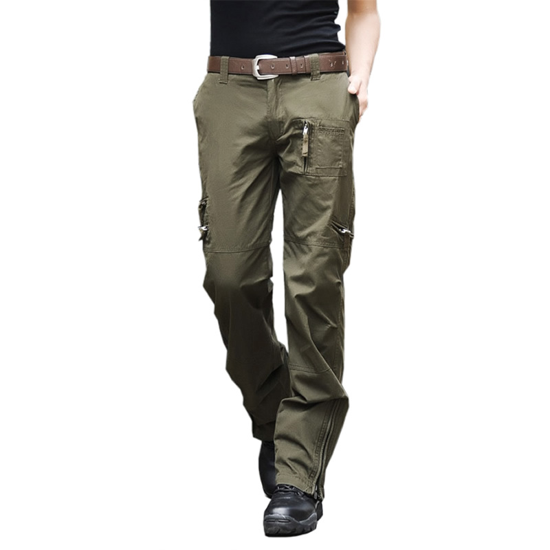Plus Size Cotton Mens Cargo Pants Male big Jogger Casual Trousers Multi Pocket Military Style black Camouflage Tactical Pants