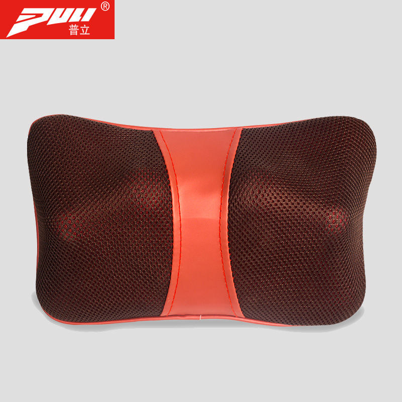 PULI Neck Massage Pillow Infrared Heating Kneading Neck Shoulder Shiatsu Massage Relaxation Home Car Dual-Use electric massage pillow infrared heating kneading cervical neck shoulder auto shiatsu massager car use massage