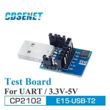 Adaptador de placa de prueba inalámbrica para módulo serie RF, 2 unidades/lote, USB UART CP2102 E15 USB T2 CDSENET UART a TTL 3,3 V 5V