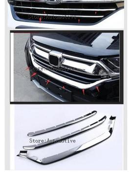 Exterior Front Radiator Grille U-Shaped Mouldings For Honda CR-V CRV 2017 2018