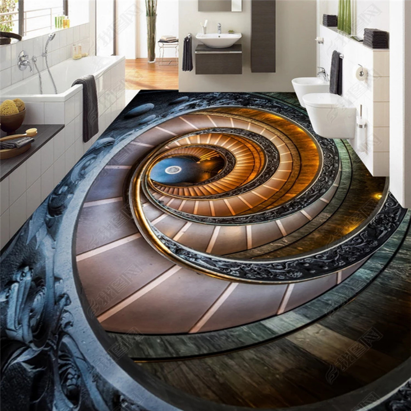 Us 16 8 44 Off Beibehang Development Ofany Size Wallpaper Painting Rotary Stairs 3d Flooring Outdoor Stereo Painting Backdrop Papel De Parede In