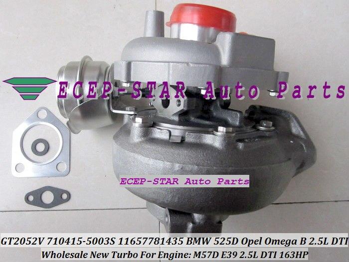 GT2052V 710415-5003 S 710415-0001 710415 турбо Турбокомпрессор Для BMW 525D 2002-03 для Opel Omega B 2.5L DTI двигателя M57D E39 163HP
