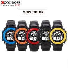 Waterproof Mens Sports Watches 2016 Hot Men Silicone Sport Watch LED Quartz Alarm Date Children Kid Boy Electronic Wristwatch