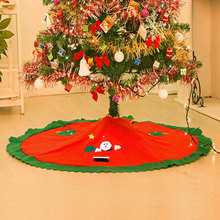 2015 Christmas Decoration 87cm Snowman Tree Skirt Nonwovens Christmas Tree Ornaments Decor Supplies Freeshipping C1