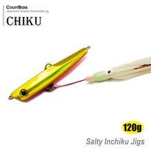 120g 4.2 oz Estilo Japonês Jigs Inchiku com Polvo Auxiliar Gancho, Squid Jigging, Parte Inferior do Navio Snapper Isca De Pesca de água salgada