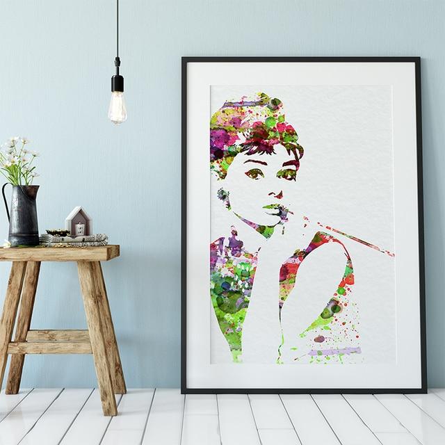Audrey Hepburn Marilyn Monroe Minimalist Art  1