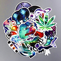 TD ZW 28Pcs/Lot Galaxy Color Waterproof Sticker For Car Laptop Trunk Skateboard Guitar Bicycle Decal Car-Styling Toy Stickers