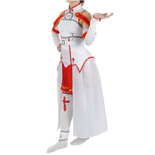 цена на Anime  Sword Art Online Cosplay Yuuki Asuna Cosplay Costumes Suit Performing Halloween  European size  Free Shipping
