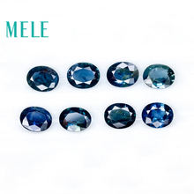 Gemstone Blue Sapphire Natural Jewelry-Making Loose for 3--4-4--5mm Oval Cut with High-Quality