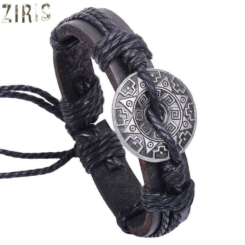 ZIRIS New type of jewelry fashion women men and personality Leather bracelet