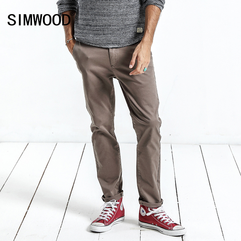 SIMWOOD 2018 Spring Winter Casual Pants Men Fashion Slim Fit Pants Plus Size Brand Clothes Men Trousers Brand XC017037