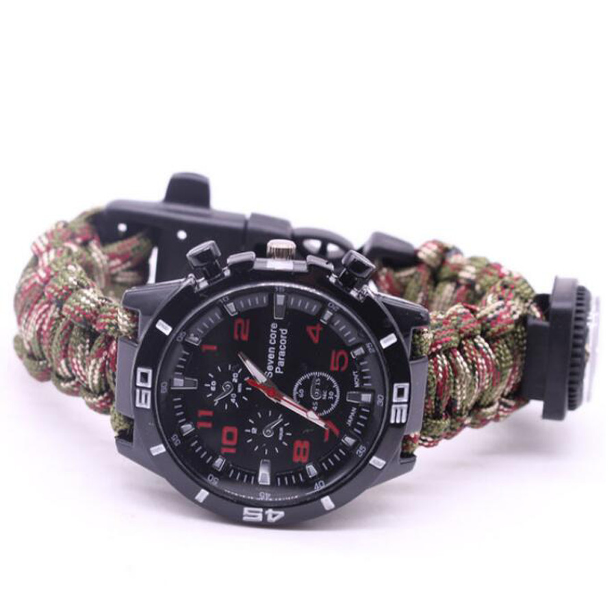 Military Outdoor Paracord Survival Bracelet Compass (11)