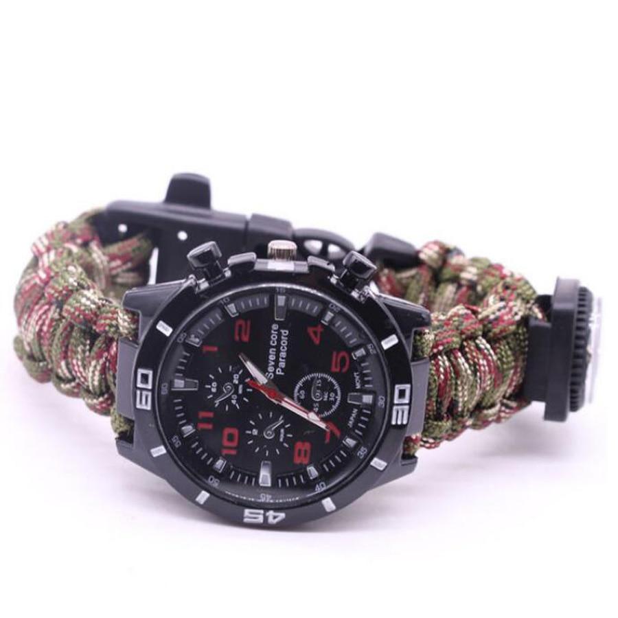 Military Outdoor Paracord Survival Bracelet Compass (11)