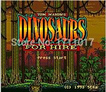Dinosaurier Für Mieten 16 16-bit-md Spielkarte Für Sega Mega Drive Für Genesis