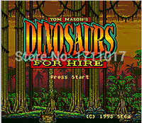 Dinosaurios para alquiler tarjeta de juego MD de 16 bits para Sega Mega Drive para Genesis