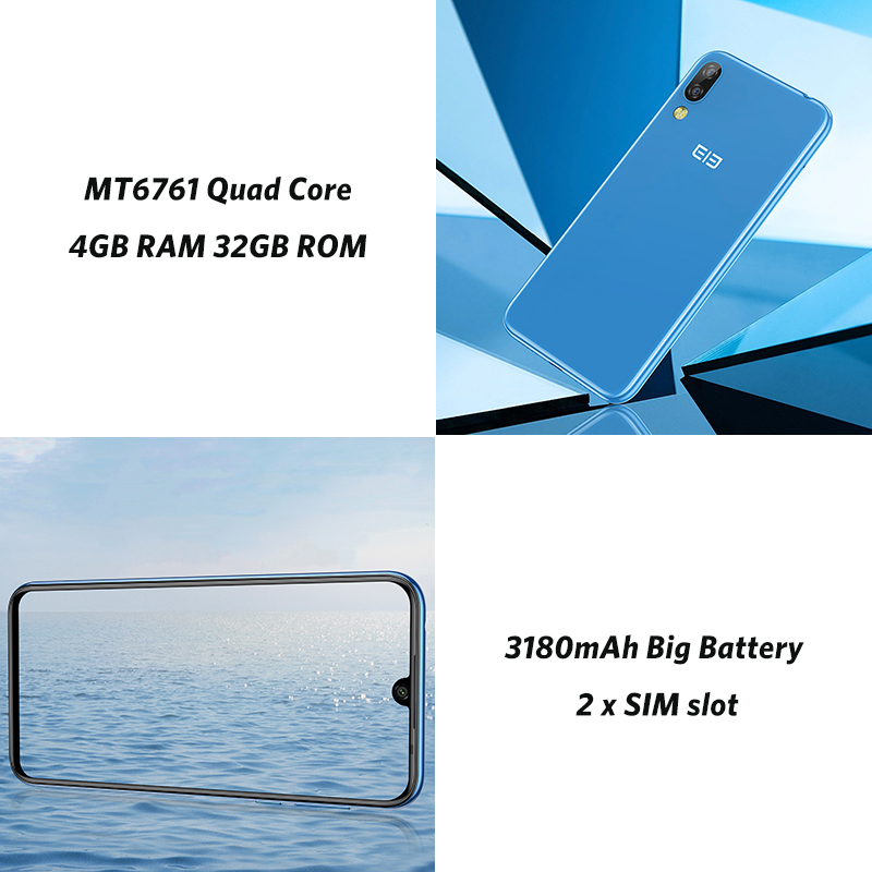 Elephone A6 MAX 6,53 ''Android 9,0 4 Гб 64 Гб MT6762V 4G смартфон 4 ядра 20MP отпечатков пальцев 5 V/2A Тип C мобильных сотовых телефонов - 5