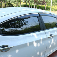 High Quality 4 Pcs Set SUNNY Wind Rain Sun Guards Visor Vent Awnings Shelters For Toyota