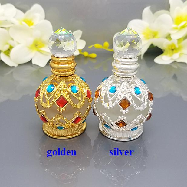 10ml high-grade golden / silver spherical essential oil bottle with transparent gem cap, empty cosmetics  packaging bottle cosmetics 50g bottle chinese herb ligusticum chuanxiong extract essential base oil organic cold pressed