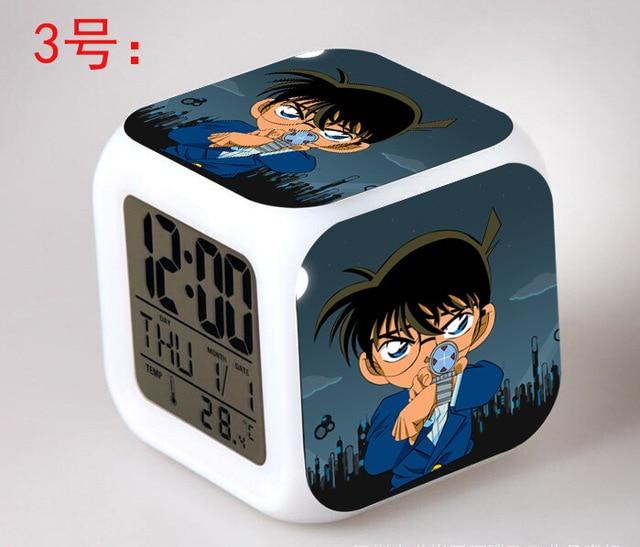 Japanischen Anime Detektiv Conan LED 7 Farbe Flash Digital Wecker Kinder  Nachtlicht Schlafzimmer Uhr Reloj Despertador