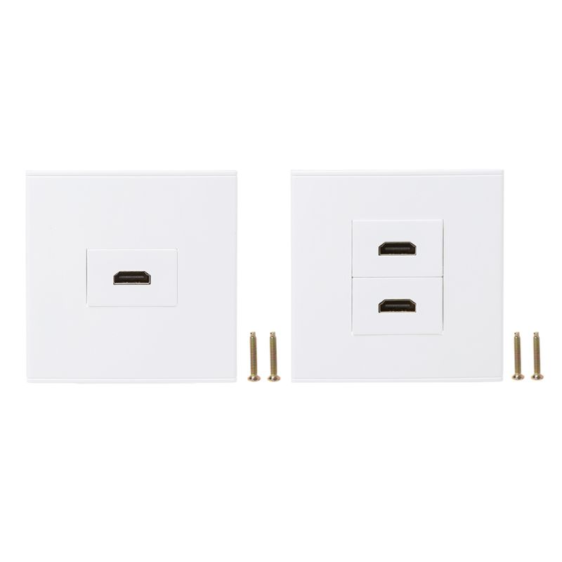 86 Type Wall Panel Socket HDMI High Definition Digital TV Network Cable Outlet-831F
