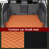 Flash mat leather Car Trunk Mats for MG All Models MG ZT T ZR ZT TF car accessories custom cargo liner