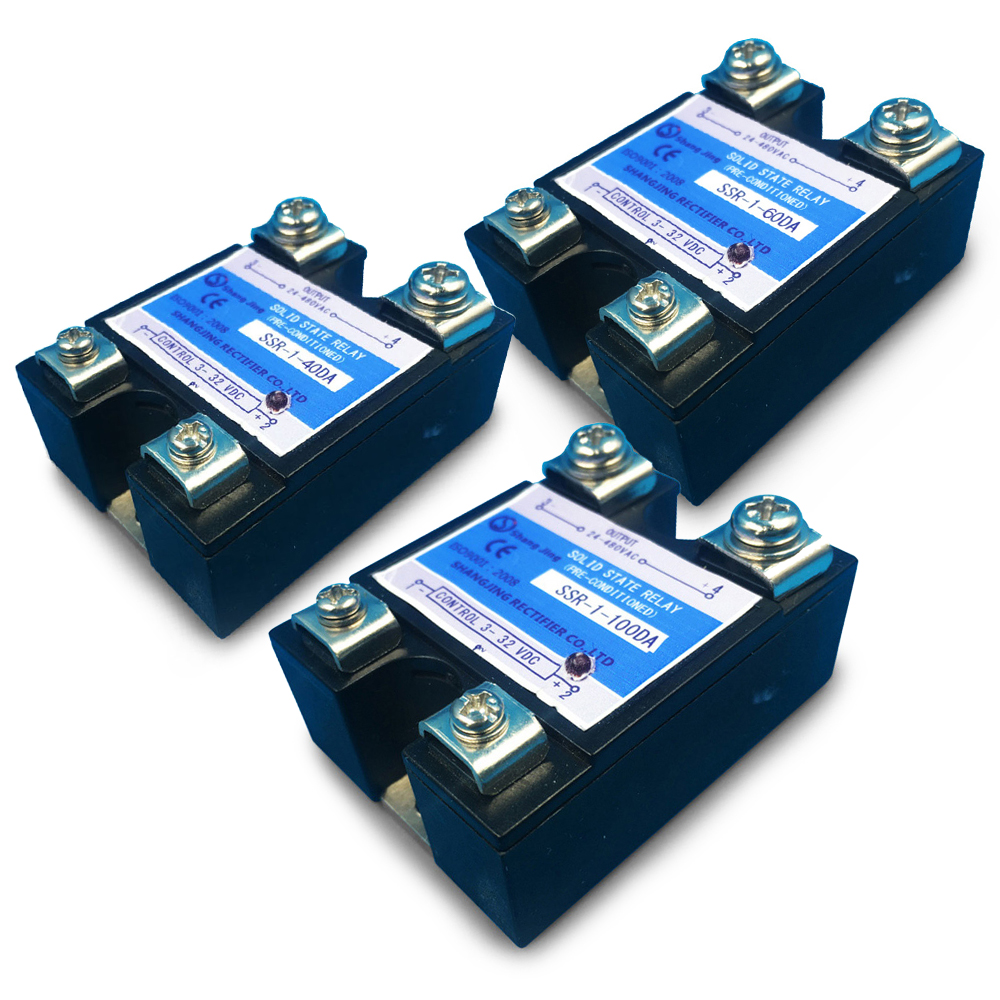free shipping Good quality reputation solid state relay <font><b>SSR</b></font> 40A 60A 80A 100A single pahse input 3~32VDC output 35~480VAC image