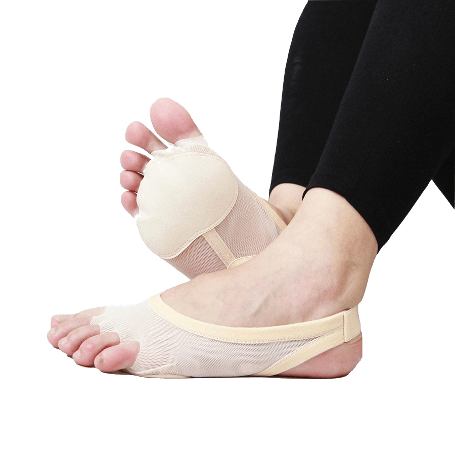 New 2018 Heel Protector Professional Ballet Dance Socks Belly Dancing Foot Thong Dance Accessories Toe Pads Nude