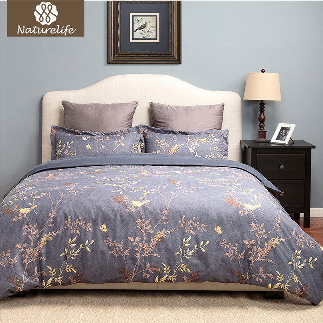 Beautiful Naturelife Printed Cotton Soft Bedding Set Cover Bed Sheet Modern  Bedding Sets Flower Bed Duvet Cover With Moderne Set