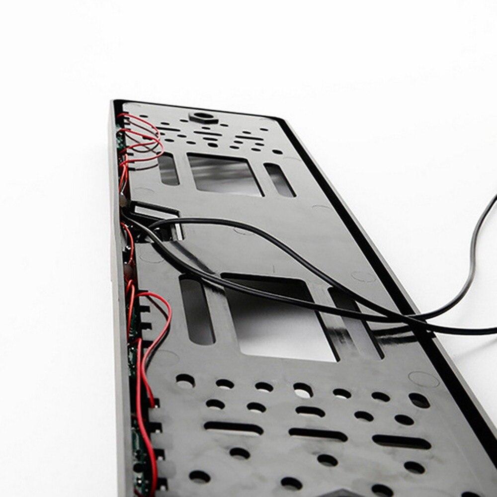 Image 3 - 16 LED Europeia Moldura Placa Câmera CMOS HD Câmera de Visão  Traseira Do Reverso Do Carro Câmera Traço Auto Veículo CâmerasCâmera  veicular