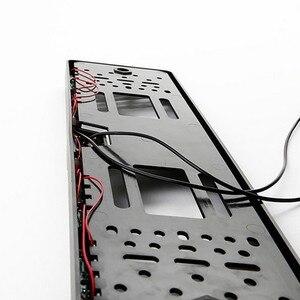 Image 3 - 16 LED europejska ramka do tablicy rejestracyjnej samochodu do tyłu aparatu CMOS HD widok z tyłu kamera Auto Dash kamera kamery